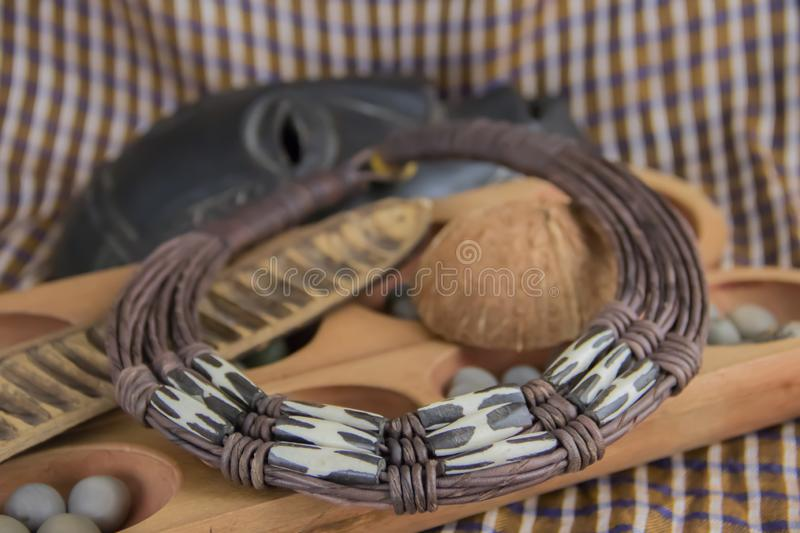 African necklace from Nigeria stock photos