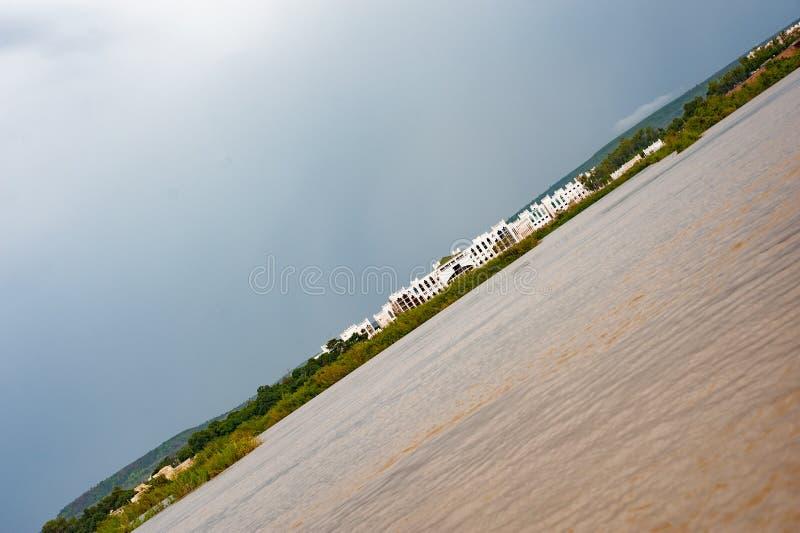 African Niger riverside. Dirty water royalty free stock image