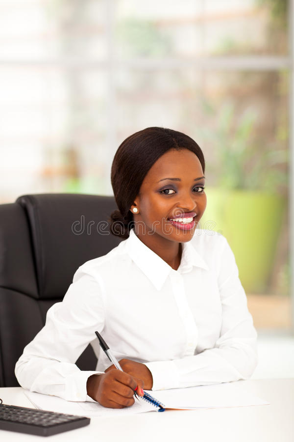 African office worker stock image
