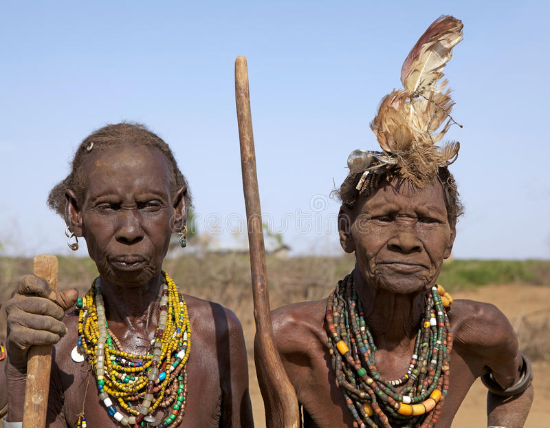 African old women stock photo