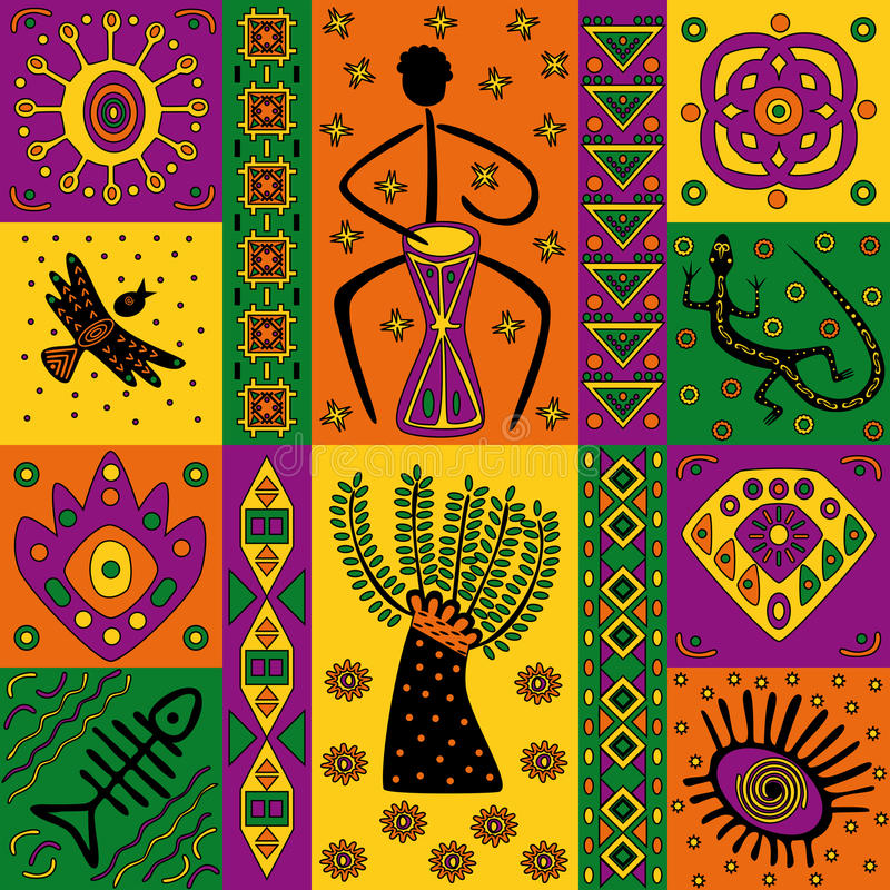 Download African pattern stock vector. Illustration of geometric - 25356723