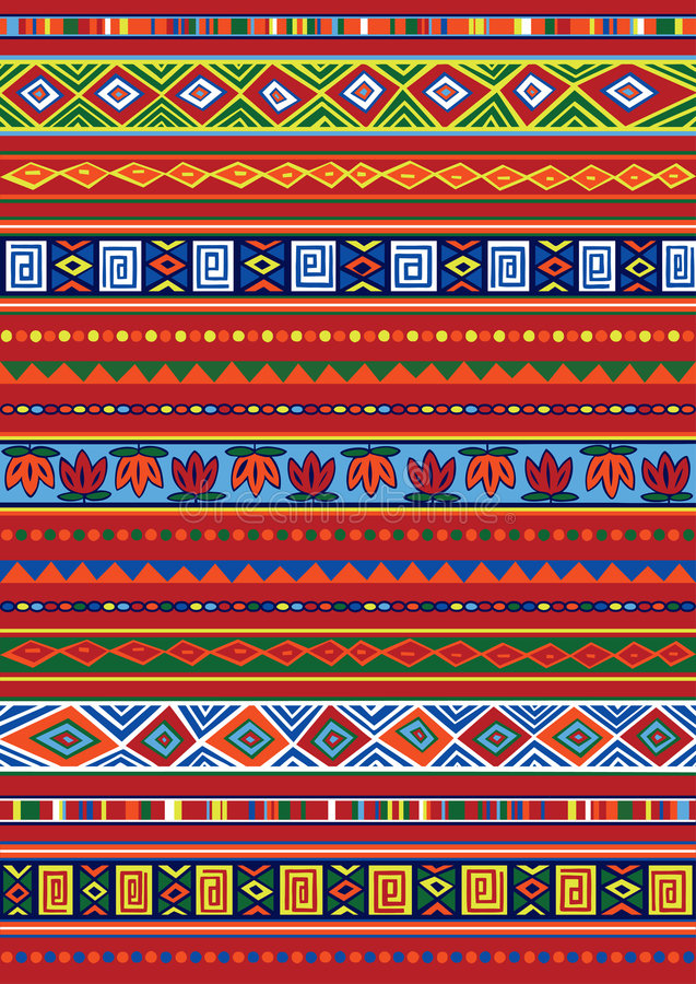 Download African pattern stock vector. Image of rectangle, vector - 8047631