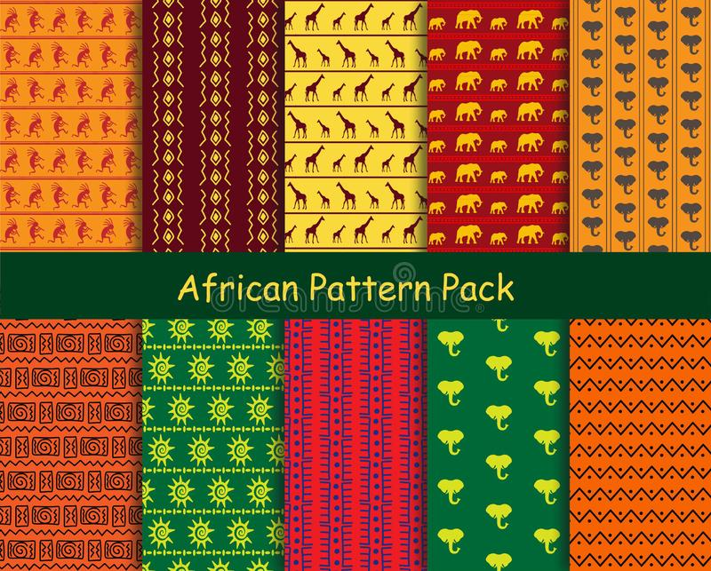 African pattern pack stock photos