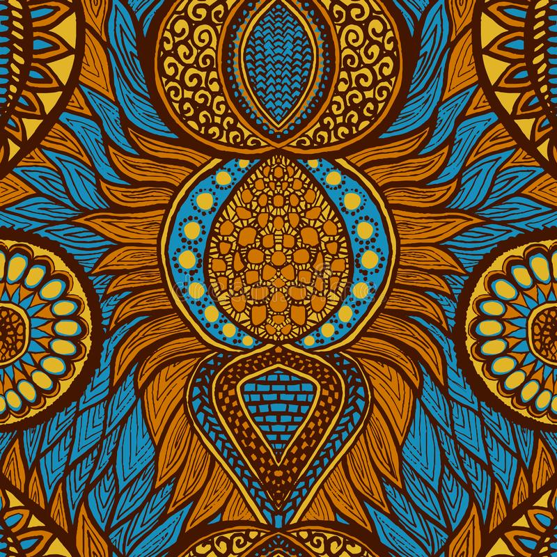 African print vector illustration