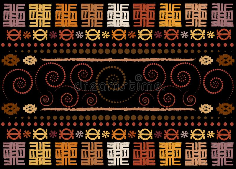 African Print fabric, Old Ethnic handmade ornament for your design, Ethnic and tribal motifs geometric elements. Vector texture. Afro textile Ankara fashion vector illustration