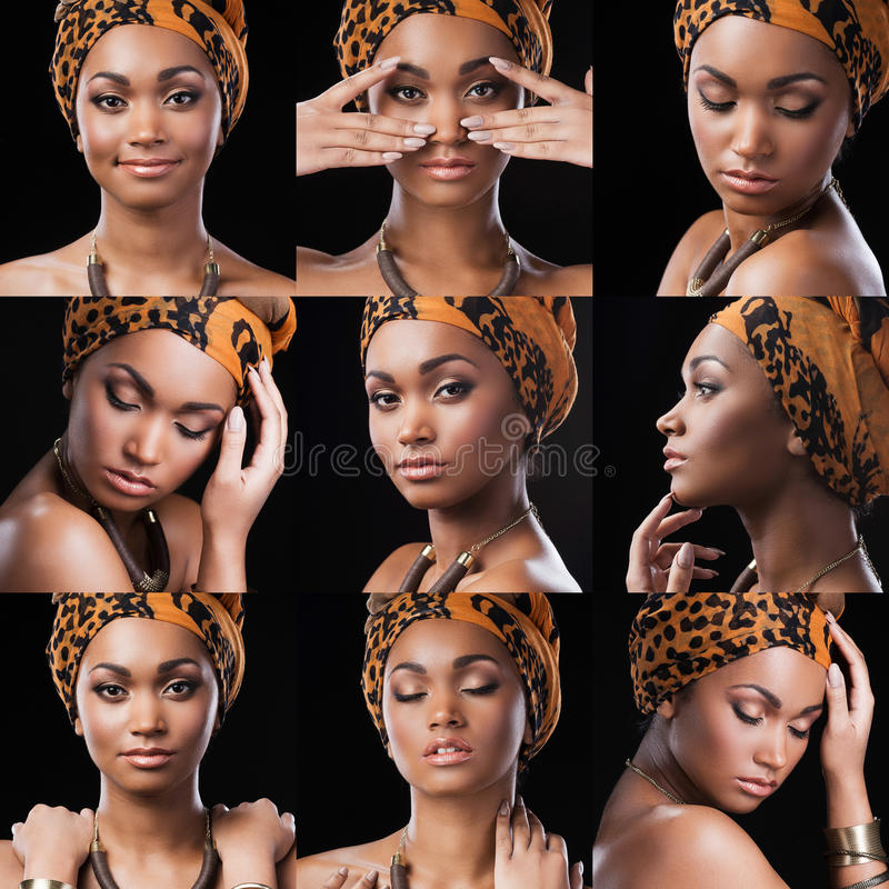 African queen. royalty free stock photography