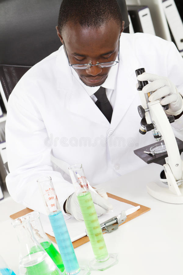 African researcher royalty free stock image