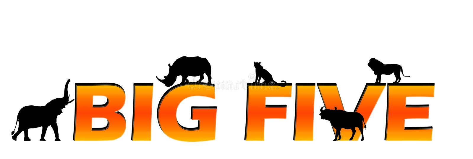 Download African's big five text stock illustration. Illustration of five - 8068836