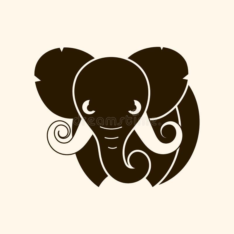 African safari elephant logo - vector illustration, emblem design vector illustration
