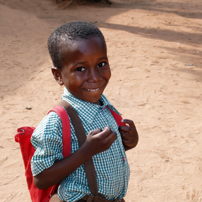 African school boy. A african kid ready for school - Ghana