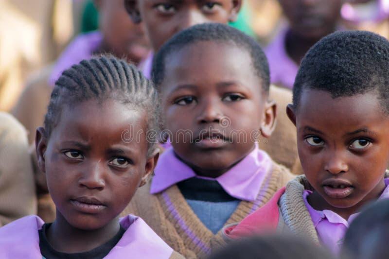 African school children portrait royalty free stock photos