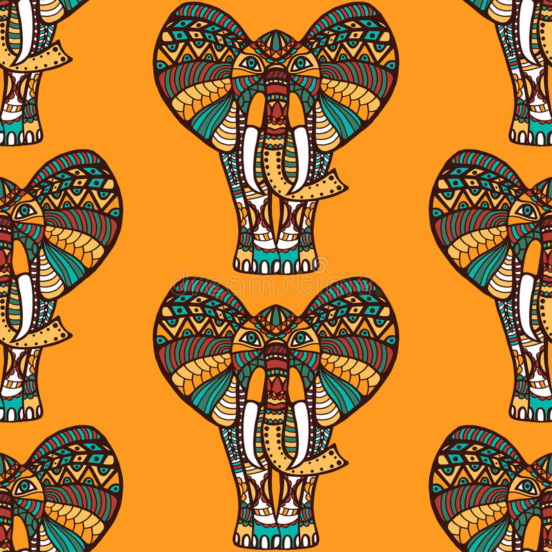 African seamless pattern vector illustration