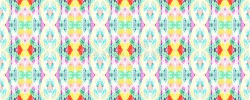African Seamless Pattern. Rainbow African Seamless Pattern. Ethnic Symmetric Triangles Rapport. Summer Safari Background.  Chevron Folk Texture. Watercolor vector illustration
