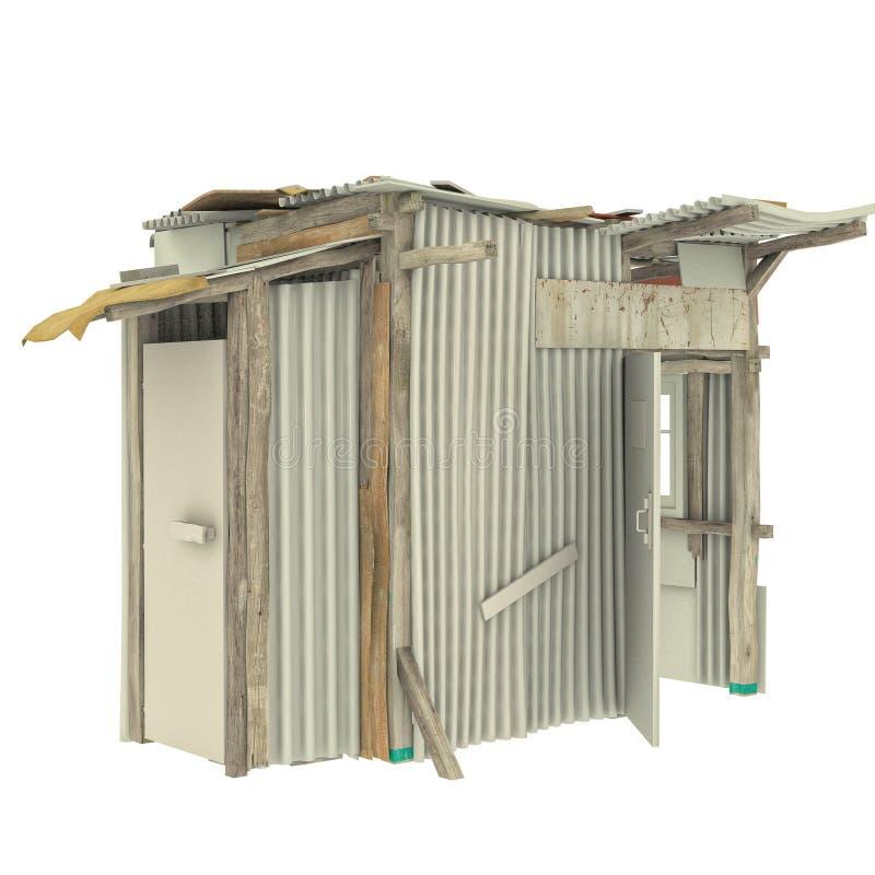 African shack door open stock illustration