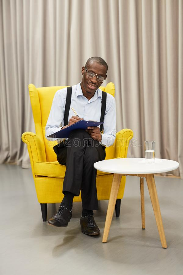 African Show Host stock photography