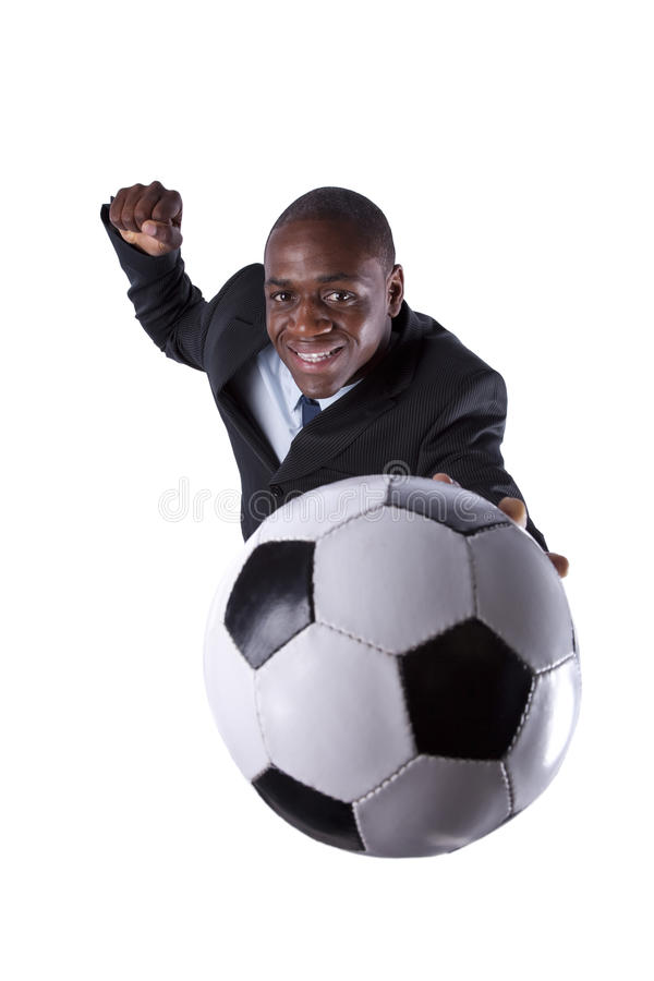 African Soccer Fan Royalty Free Stock Image
