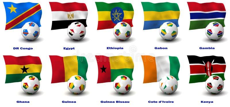 Download African Soccer Nations - 2 Of 4 Stock Illustration - Illustration: 21071972