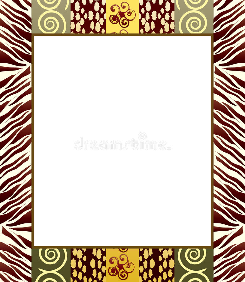 African style frame 2 stock vector. Illustration of canvas - 17921493