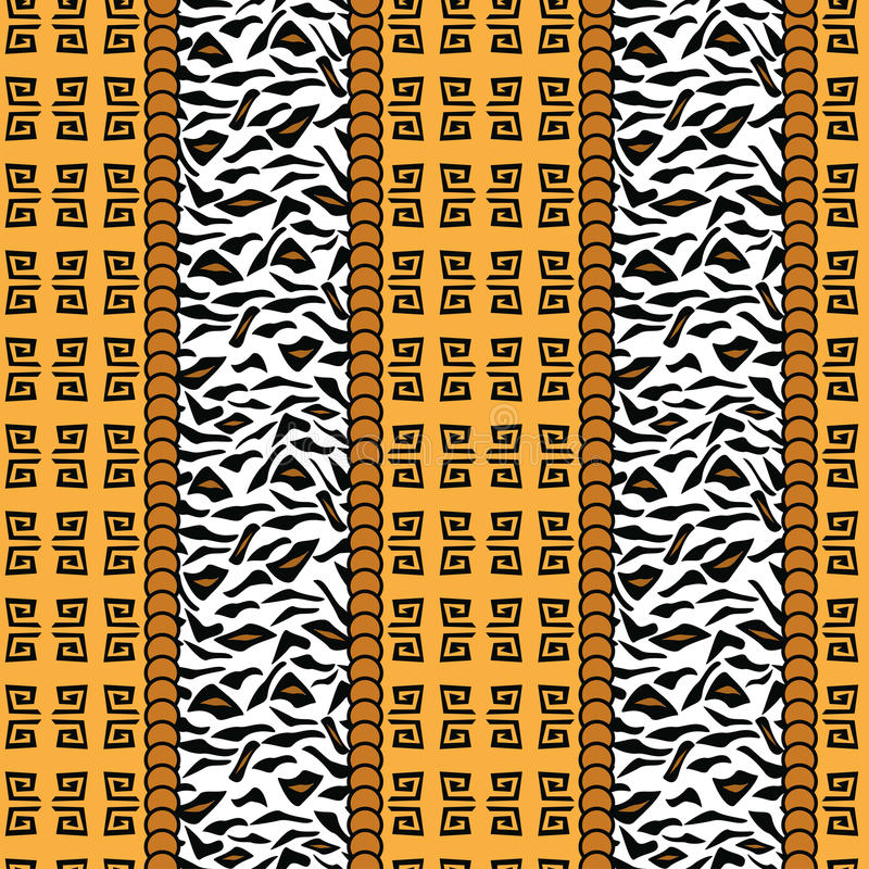Free African Style Pattern With Animal Skin Royalty Free Stock Photos - 30583828