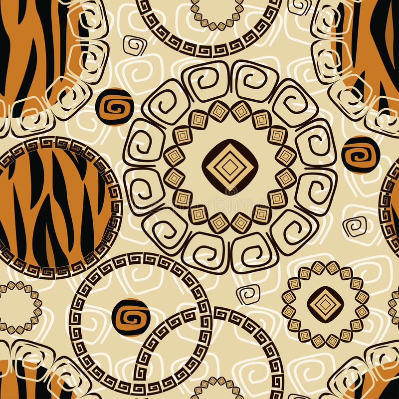 African style seamless background royalty free illustration