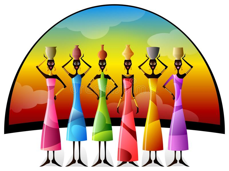 Download African Sun stock illustration. Image of colorful, african - 28458349