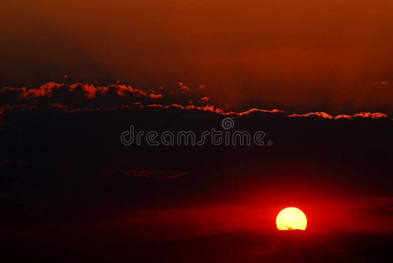 Download African sunset stock photo. Image of sunset, shade, bronze - 7170246