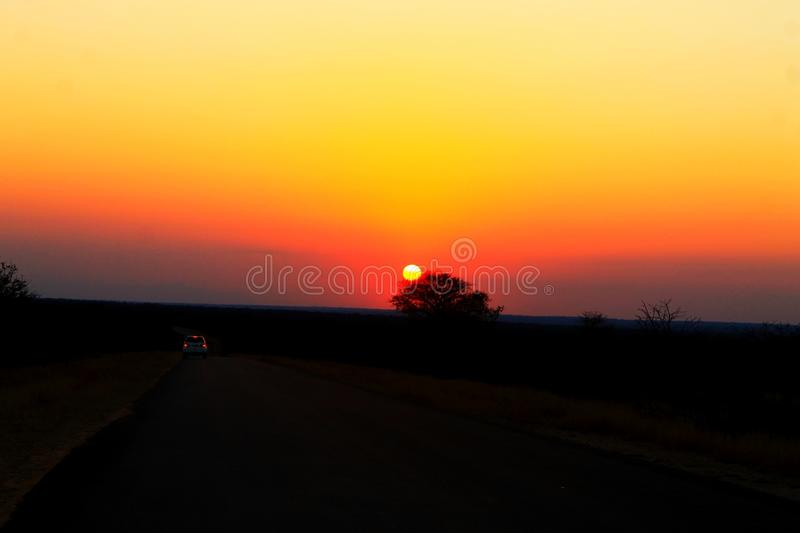 African Sunset stock photos