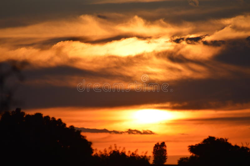 African sunset stock photography