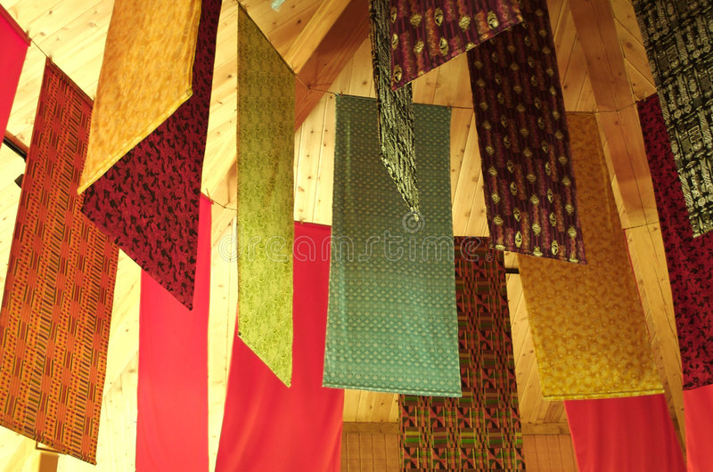 African Tapestries stock image