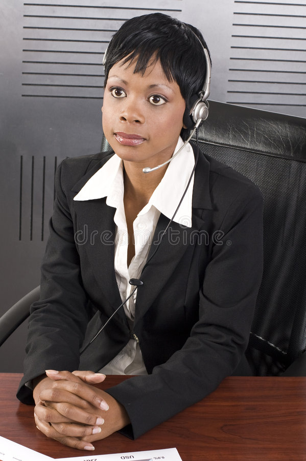 African Telesales royalty free stock photos