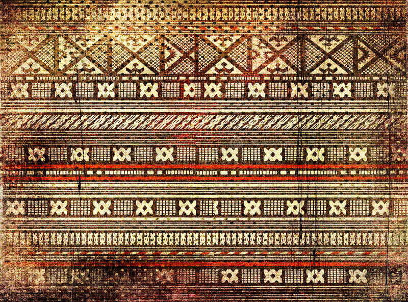 African texture. Old canvas texture with african ornament royalty free stock photos