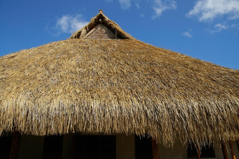 African thatched roof royalty free stock photography