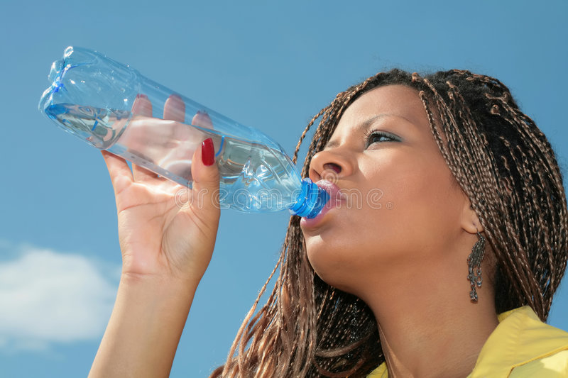 African thirst royalty free stock image
