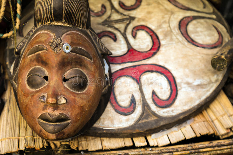 African Totem Mask. A Detailed African Totem Mask royalty free stock photo