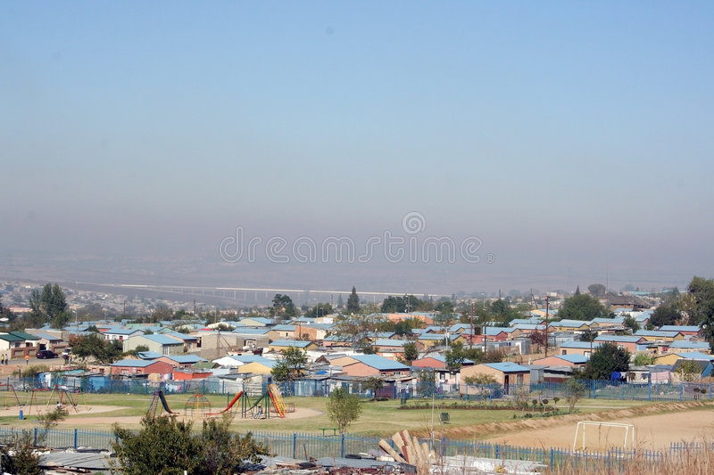 African Townships royalty free stock image