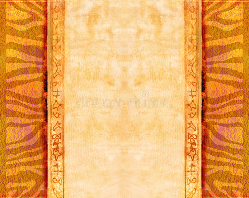 African traditional patterns royalty free illustration