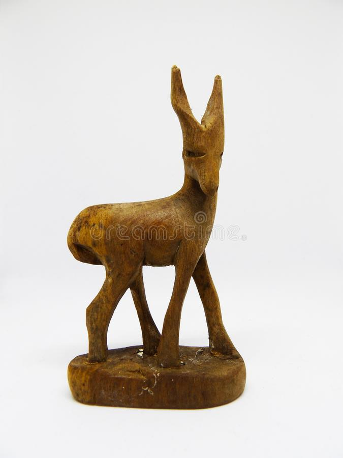 Free African Tribal Antelope Carving Out Of Wood Without Tusks Stock Images - 113446074