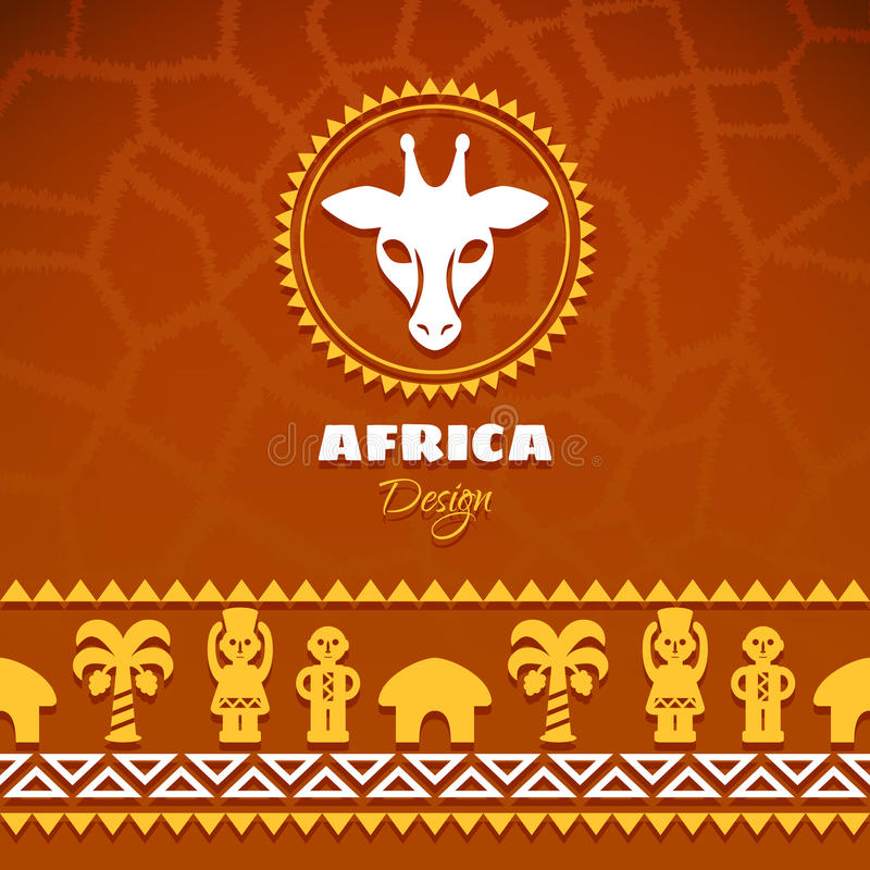 African Tribal Ethnic Art Background royalty free illustration