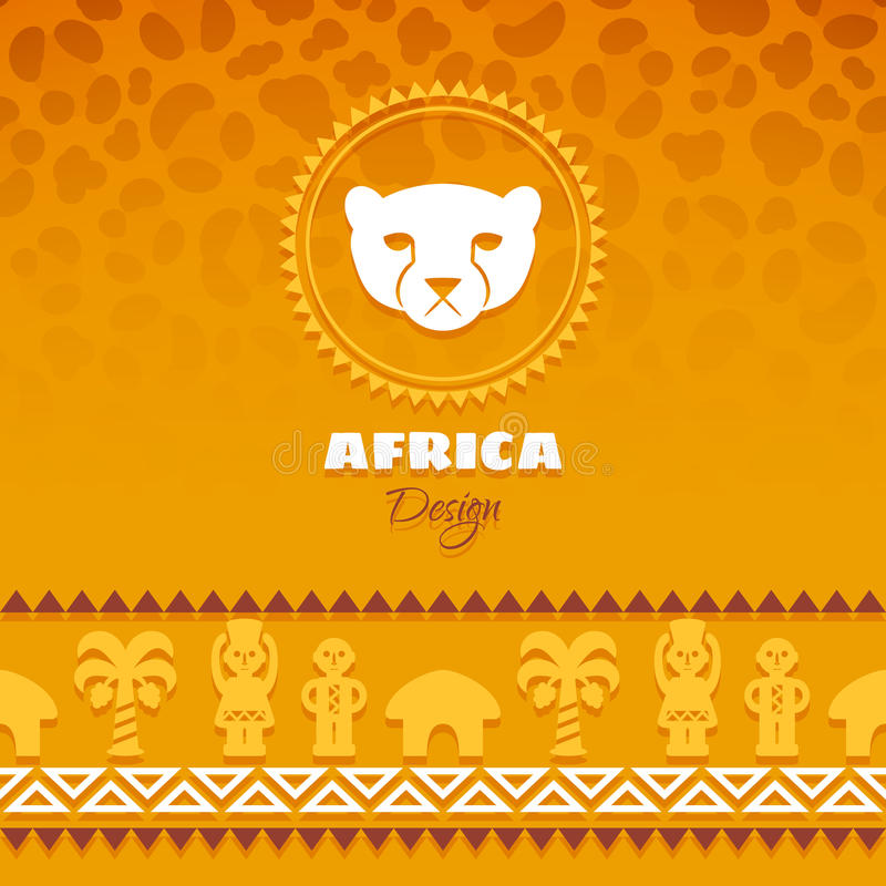 African Tribal Ethnic Art Background. Leopard skin. Vector design vector illustration