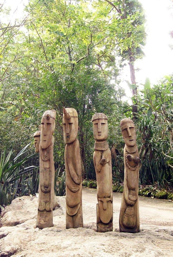 African Tribal Sculptures Art Stock Photos