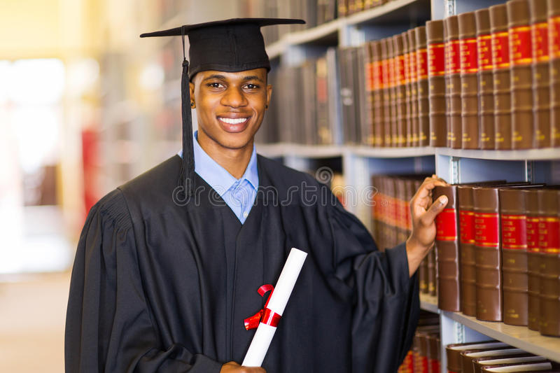African university graduate royalty free stock photo