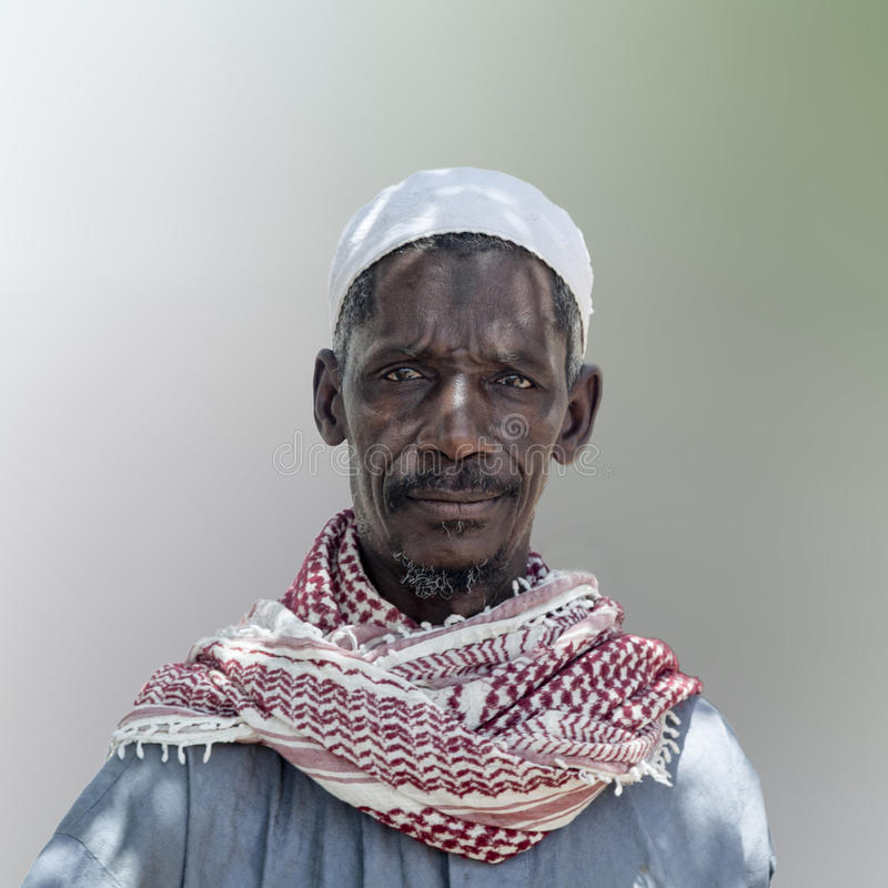 African village chief posing for a portrait royalty free stock photography