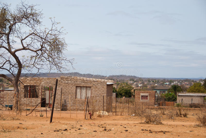 African village. Small village in Limpopo province, South Africa stock image