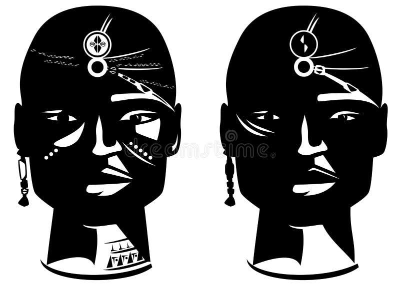 African warrior royalty free illustration