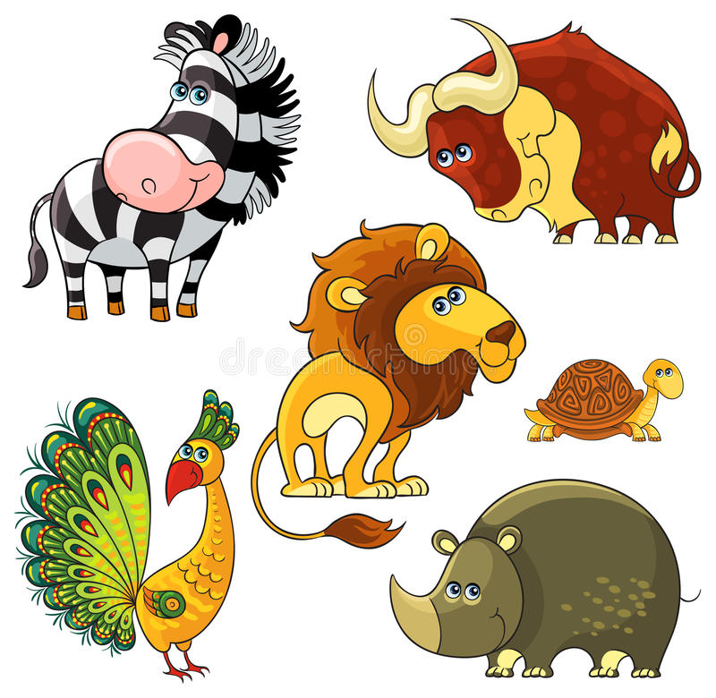 Download African wild animals set stock vector. Illustration of happiness - 31421543