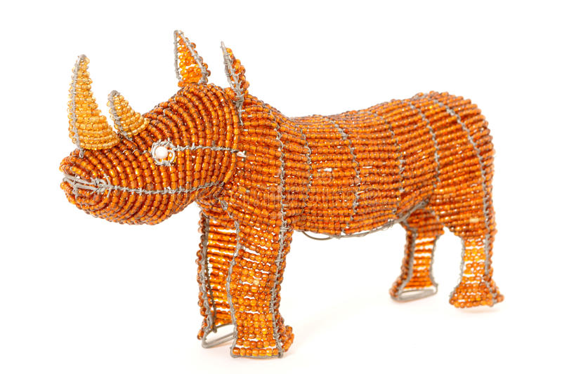 Download African Wire And Bead Rhino Stock Photo - Image: 21739198