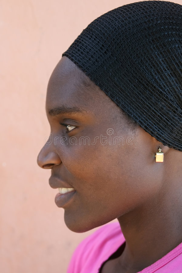 African woman stock image