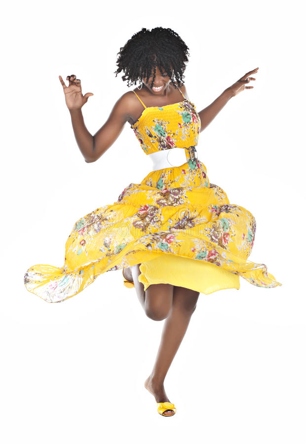 Free African Woman Dancing Royalty Free Stock Photos - 13067548
