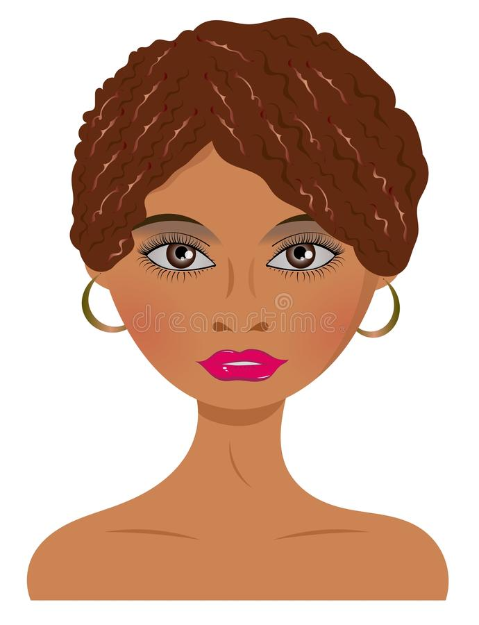 Download African Woman With Earrings Stock Vector - Illustration: 22902966