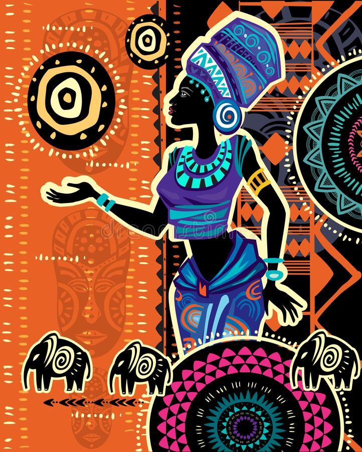 CowCow Womens Brown African Ethnic Colorful Pattern Bodycon Skirt